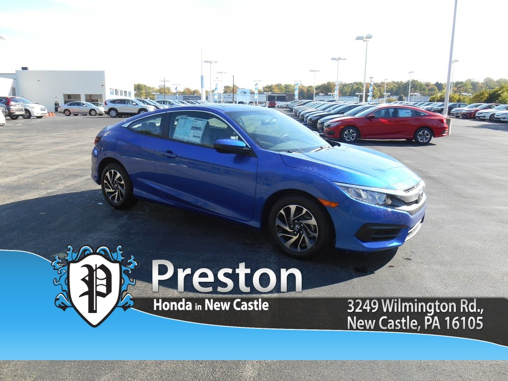 New 2017 honda civic lx p 2d coupe in new castle h17048 for Castle honda service